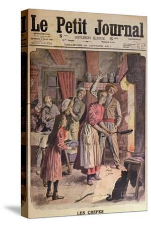 Making Pancakes, Illustration from 'Le Petit Journal', 26th February 1911