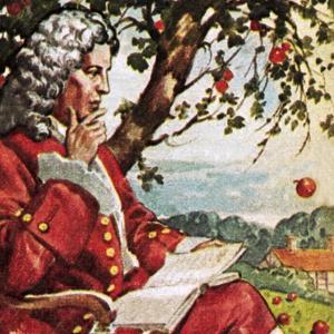 Newton Watching Apples Fall by English School