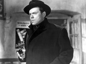 Orson Welles in 'The Third Man', 1949 (b/w photo) by English School