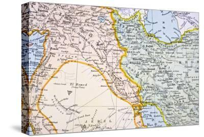 Partial Map of the Middle East in the 1890s, from 'The Citizen's Atlas of the World', Published…