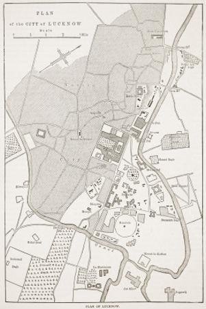 Plan of the City of Lucknow, from 'Cassell's Illustrated History of England'