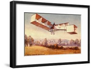 Postcard depicting the Santos-Dumont 14-bis aeroplane, c. 1910 (colour litho) by English School