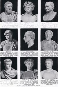 Roman Emperors Who Visited Britain, Illustration from 'Hutchinson's History of the Nations', c.1910 by English School