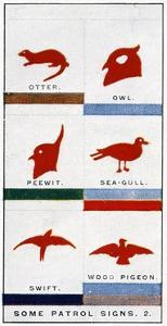 Scout Patrol Signs, 1929 by English School