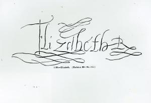 Signature of Queen Elizabeth I by English School