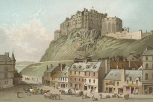 The Castle from the Grassmarket - Edinburgh by English School