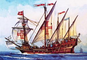 The Portuguese Caravel by English School