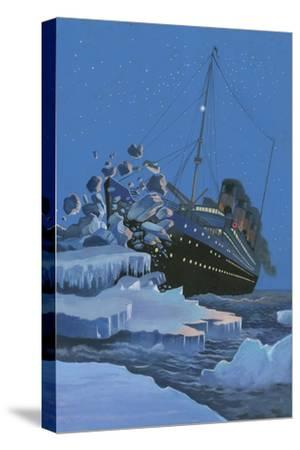 The Titanic Collides with an Iceberg on the 28th Aprl 1912