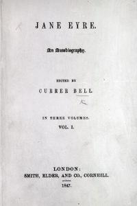 Title Page to the First Edition of 'Jane Eyre' by Charlotte Bronte, 1847 by English School