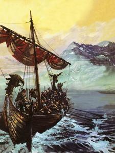 Viking Ship by English School