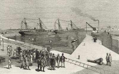 Visit of Viceroy of India to the Sassoon Dock at Bombay, from 'The Illustrated London News'