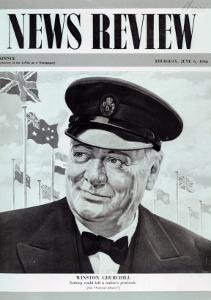 Winston Churchill, from the Frontcover of 'News Review', 6th June 1946 by English School