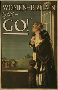 "Women of Britain say - ""Go!"", 1915 by English School"