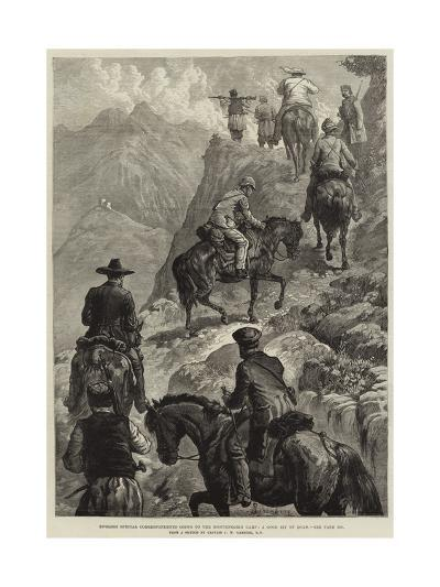 English Special Correspondents Going to the Montenegrin Camp, a Good Bit of Road--Giclee Print