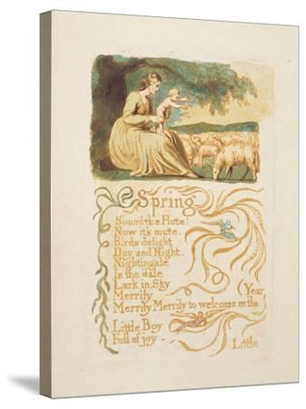 Spring', Plate 12 from 'Songs of Innocence and Experience', after William Blake (1757-1827) C.1808