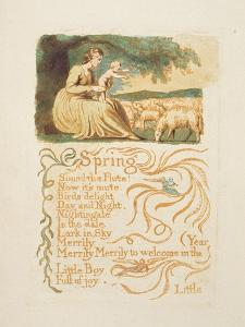 Spring', Plate 12 from 'Songs of Innocence and Experience', after William Blake (1757-1827) C.1808 by English