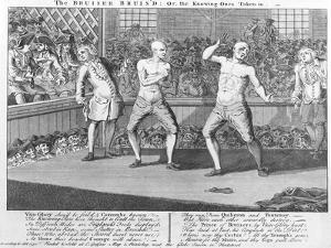The Bruiser Bruis'D, Or, the Knowing-Ones Taken-In, 1750 (Engraving) by English