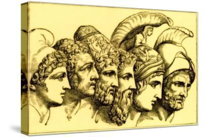 The Heroes of the Trojan War: Paris, Diomedes, Odysseus, Nestor, Achilles, Agamemnon
