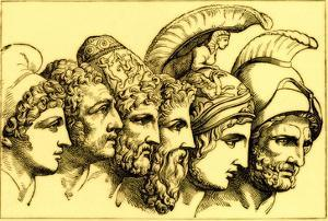 The Heroes of the Trojan War: Paris, Diomedes, Odysseus, Nestor, Achilles, Agamemnon by English