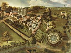 The House and Garden of Llanerch Hall, Denbighshire, c.1662-72 by English
