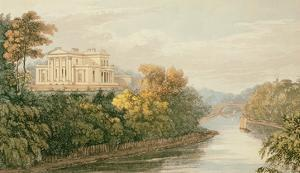The Seat of G.B. Greenough Esq., Regent's Park, from Ackermann's 'Repository of Arts' by English