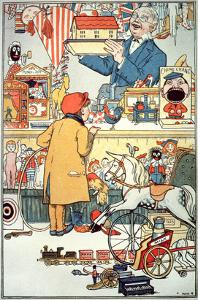 The Toy Shop, C.1910 (Colour Litho) by English