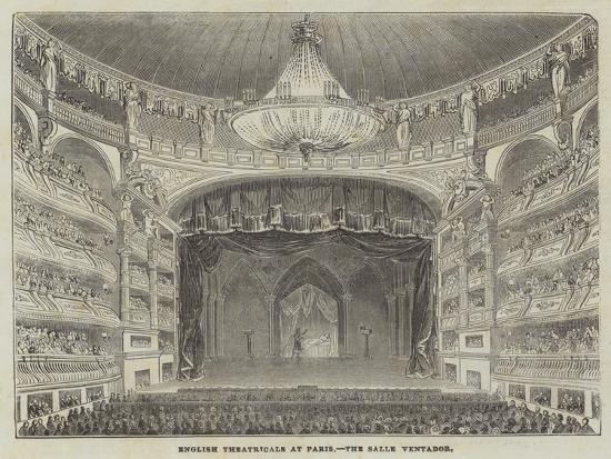 English Theatricals at Paris, the Salle Ventador--Giclee Print