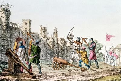 English Troops Attacking a French Town, Hundred Years War, 1337-1453--Giclee Print