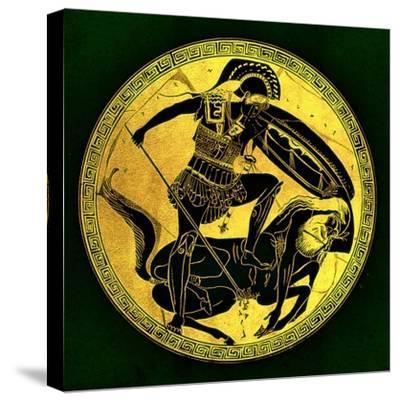 Warrior and Centaur, Illustration from 'Greek Vase Paintings'