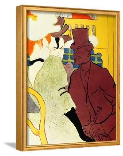 Englishman at Moulin Rouge-Henri de Toulouse-Lautrec-Framed Giclee Print
