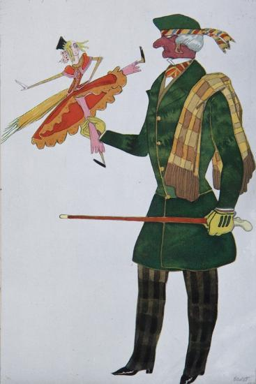 Englishman. Costume Design for the Ballet the Magic Toy Shop by G. Rossini, 1919-L?on Bakst-Giclee Print