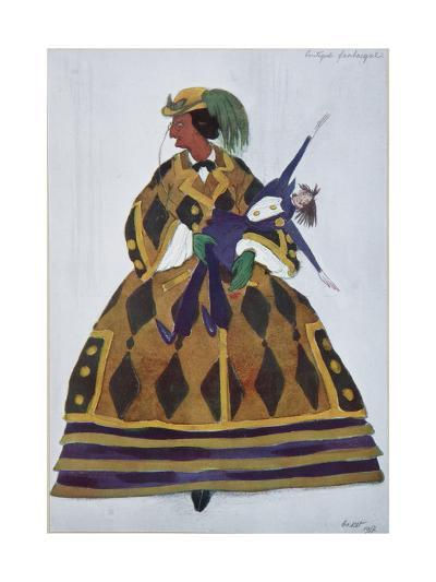 Englishwoman. Costume Design for the Ballet the Magic Toy Shop by G. Rossini, 1919-L?on Bakst-Giclee Print