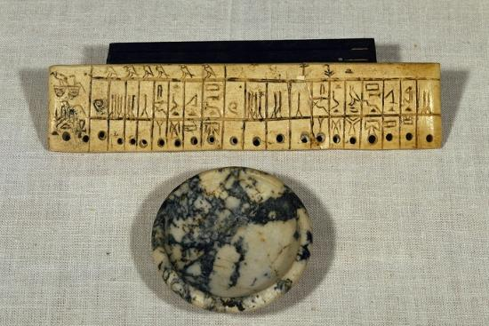 Engraved Ivory Plaque from Step Pyramid of Djoser--Giclee Print