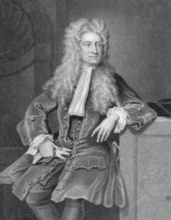 Engraved Portrait of Sir Isaac Newton