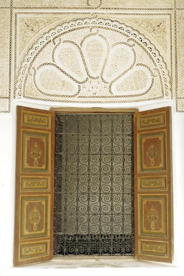 Engraved Wood Decor in Alaouite Palace of Dar Si Said-Guy Thouvenin-Photographic Print