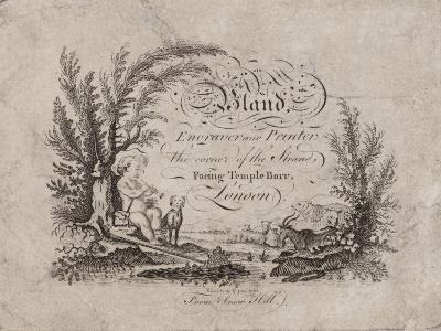 Engraver and Printer, Bland, Trade Card--Giclee Print
