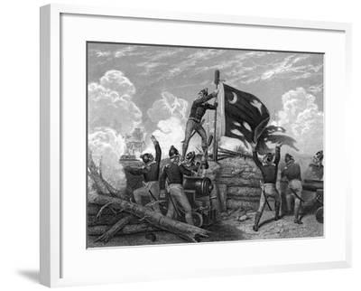 Engraving Entitled Defence of Fort Moultrie, S.Cd.--Framed Giclee Print