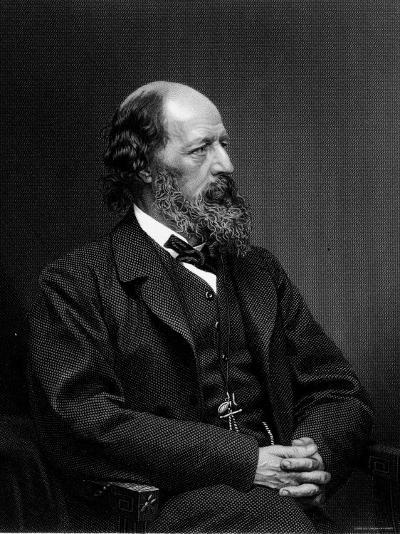 Engraving of Alfred Tennyson, English Poet--Photographic Print