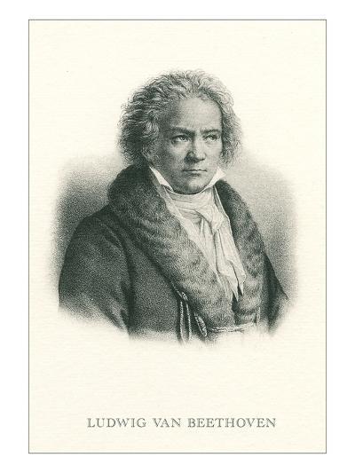 Engraving of Beethoven--Art Print