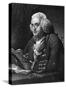 Engraving of Benjamin Franklin, American Philosopher, Author and Scientist