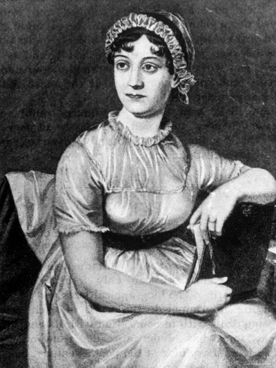 Engraving of English Novelist Jane Austen--Photographic Print