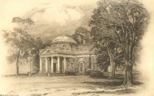 Engraving of Monticello, Charlottesville, Virginia