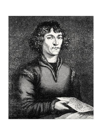 Engraving of Nicolas Copernicus, Polish Astronomer-Jeremy Burgess-Giclee Print