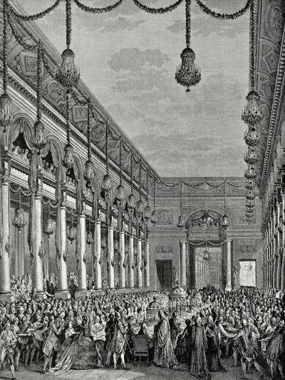 Engraving of Royal Banquet at Hotel De Ville--Giclee Print