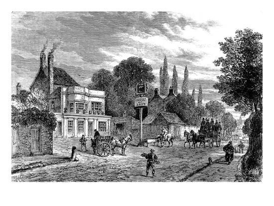 Engraving Showing the 'Bull and Last' Public House in Kentish Town, During the 19th Century--Giclee Print