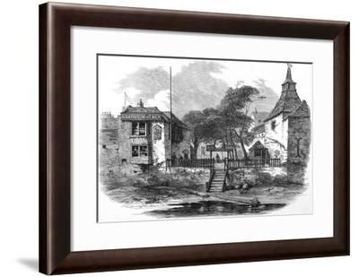 Engraving Showing the Old Swan Inn, Chelsea, London, Seen from the River Thames in 1873--Framed Giclee Print