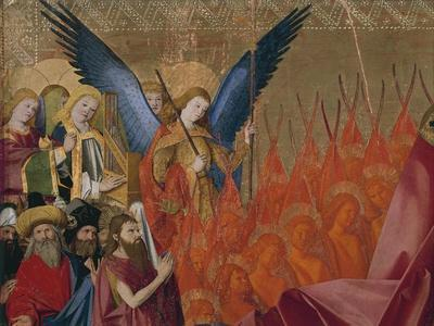 Angels and Saints, Detail from Coronation of Virgin, 1454