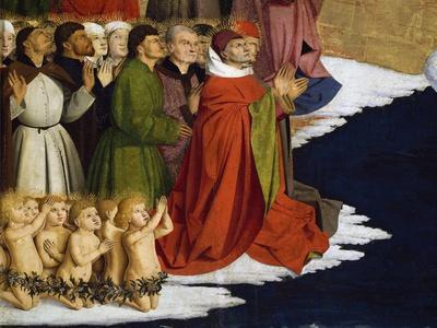 Baptizing Men and Children, Detail from Coronation of Virgin Altarpiece, 1454