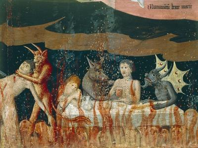 Demons and Damned in Hell, Detail from Coronation of Virgin Altarpiece, 1454