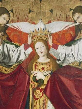 Holy Trinity Crowning Virgin, Detail from Coronation of Virgin, 1454